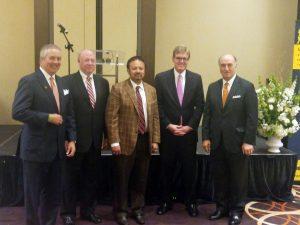 Left to Right: Gary Gill, CEO (MacKenzie), Bob Cawley, President (RCM&D), Anirban Basu (Sage Policy Group), Scott Wimbrow, President (MacKenzie), Mike Gill, Secretary of Commerce